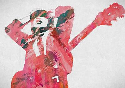 Schoolboy Painting - Angus Young by Dan Sproul