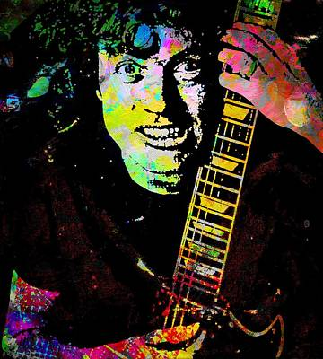 Angus Young Painting - Angus Young by Otis Porritt