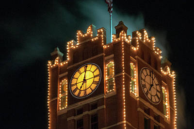 Photograph - Anheuser Busch Clocktower by Steve Stuller