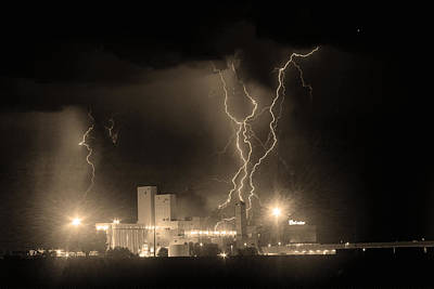 American West - Anheuser-Busch On Strikes Black and White Sepia Image by James BO Insogna