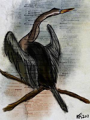 Anhinga Digital Art - Anhinga  by Michael Kallstrom