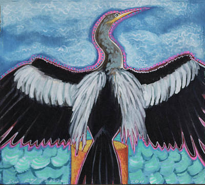 Anhinga Mixed Media - Anhinga by Sue Roy-Nauman