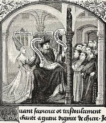 Boethius Drawing - Anicius Manlius Severinus Boethius 480 by Vintage Design Pics