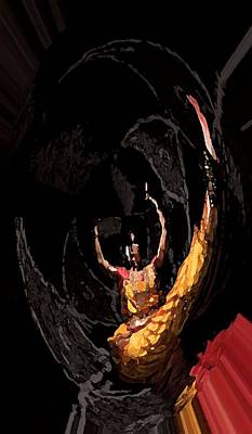 Anictress The Animated Dancer Art Print