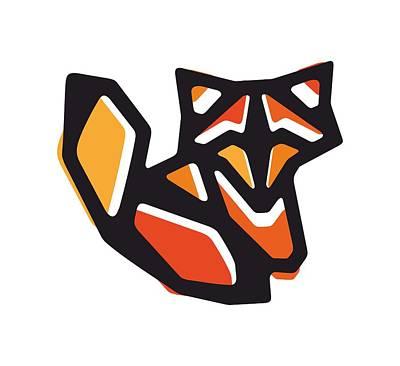 Black Top Digital Art - Anigami Fox by Xooxoo