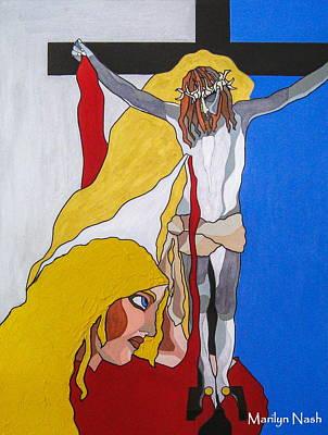 Drawing - Anima Christi by Marilyn Nash