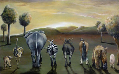 Animal Butts Original by Michelle Iglesias
