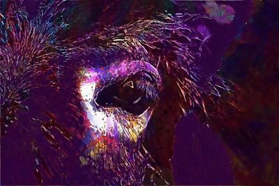 Digital Art - Animal Close Up Eye Hairy Horse  by PixBreak Art