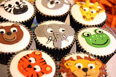 Photograph - Animal Cupcakes by Doc Braham