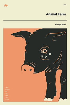 Book Cover Digital Art - Animal Farm by Jazzberry Blue