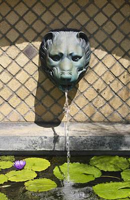 Animal Fountain Head Art Print by Teresa Mucha