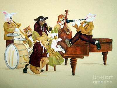 Painting - Animal Jazz Band by Deborah Smith