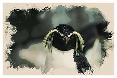 Animals Painting - Animal Kingdom Series - Emperor Penguen by Celestial Images