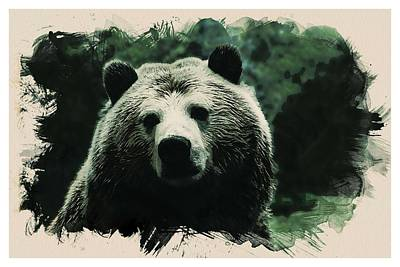 Animal Kingdom Series - Grizzly Bear Art Print
