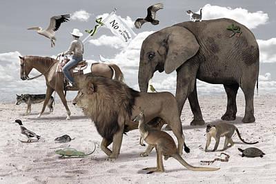 Kangaroo Digital Art - Animal Kingdom by Solomon Barroa