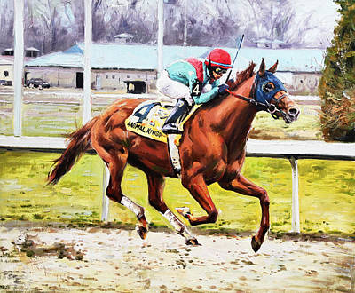 Race Horse Painting - Animal Kingdom by Conor McGuire