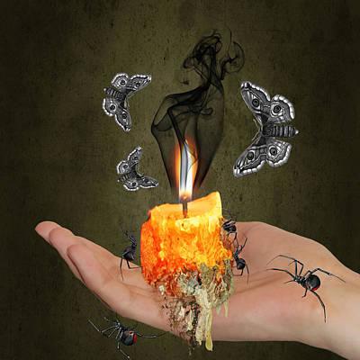 Burnt Digital Art - Animal Migration by Solomon Barroa