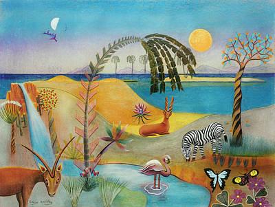 Animal Paradise Art Print by Sally Appleby