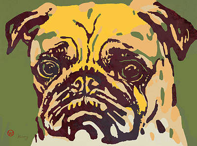 Animal Pop Art Etching Poster - Dog  18 Art Print by Kim Wang
