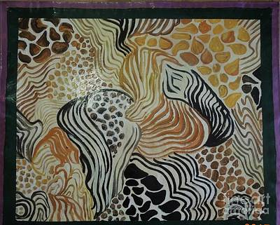 Painting - Animal Print Floor Cloth by Judith Espinoza