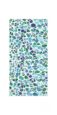 Animal Skin Leaves 2 Phone Case Art Print by Edward Fielding