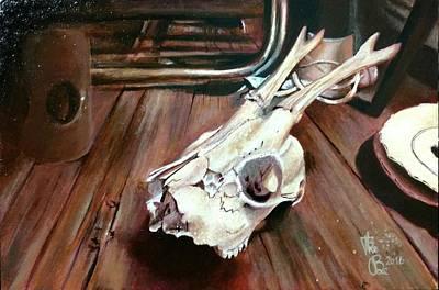 Painting - Animal Skull, 1 by Ramona Boehme