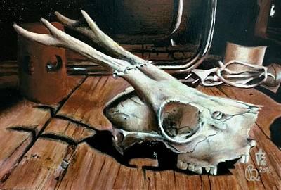 Painting - Animal Skull, 2 by Ramona Boehme