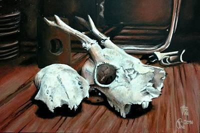 Painting - Animal Skull, 3 by Ramona Boehme