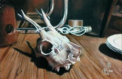 Painting - Animal Skull, 4 by Ramona Boehme