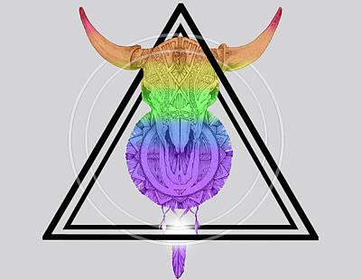 Digital Art - Animal Skull by Ashley Heath