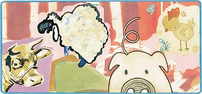 Barnyard Drawing - Animal Songs 7 by Karl Frey