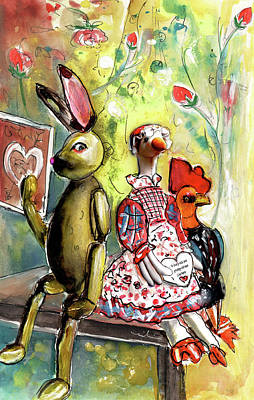 Painting - Animal Stillife In Whitby by Miki De Goodaboom