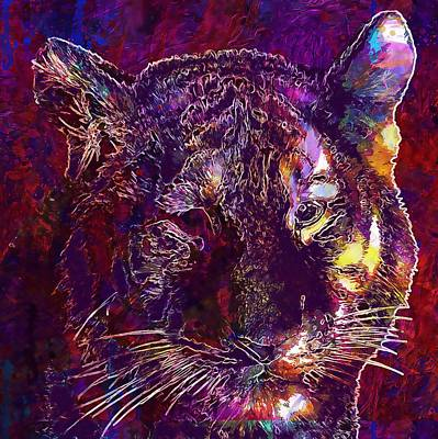 Digital Art - Animal Tiger Tiger Head Portrait  by PixBreak Art