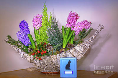 Photograph - Animal Urn With Flowers by Benny Marty