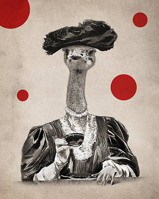 Ostrich Digital Art - Animal12 by Francois Brumas