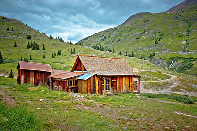 Photograph - Animas Forks Homestead by Linda Unger