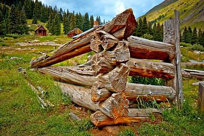 Animas Forks Log Cabin Art Print