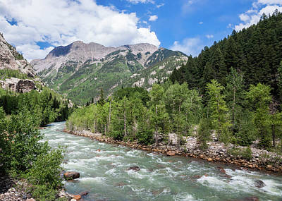 Photograph - Animas River, Silverton, Colorado by Lon Dittrick
