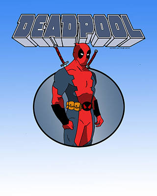 Deadpool Digital Art - Animated Deadpool by Mista Perez Cartoon Art