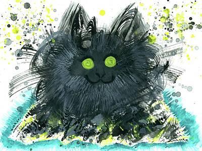 Hallucination Painting - Animism Essence #129 by Rainbow Artist Orlando L