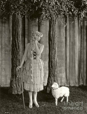 Bo Peep Photograph - Anita Page As Bo Beep by Sad Hill - Bizarre Los Angeles Archive