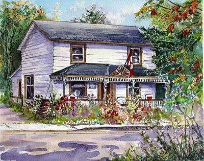 Art Print featuring the painting Anita's House by Margit Sampogna