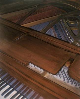 Mixed Media - Anita's Piano 2 by Anita Burgermeister