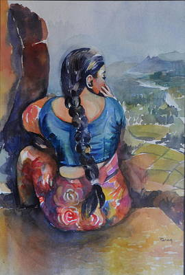 Drawing - Anjani At Hampi by Parag Pendharkar
