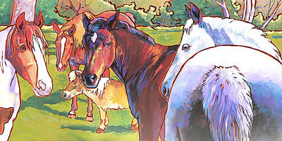 Painting - Anjelica Huston's Horses by Nadi Spencer