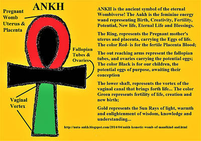 Digital Art - Ankh Meaning by Adenike AmenRa