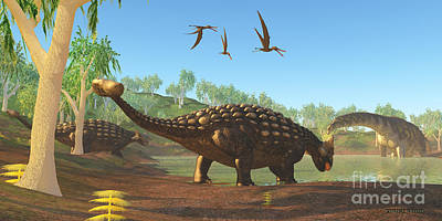 Ankylosaurus Art Print by Corey Ford