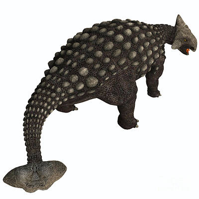 Ankylosaurus Isolated Print by Corey Ford