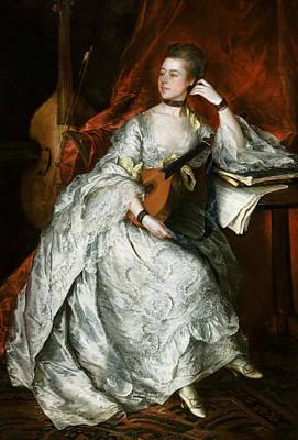 Ann Ford Art Print by Thomas Gainsborough