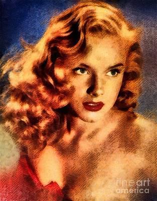 Ann Francis, Vintage Hollywood Actress Art Print by John Springfield